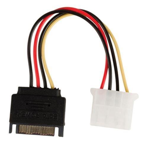 Cable de alimentacion Interna SATA Macho - Molex Hembra 0.15 Metros, Cablepelado® Cablepelado®