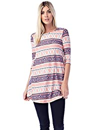 Betsy Red Couture Women's & Plus Size Soft Knit Tunic Top