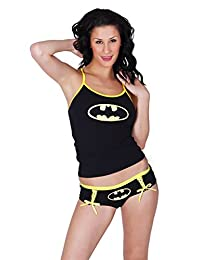 Undergirl Batman Glow Cami and Short Sleep Set