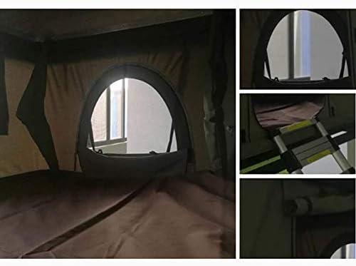 Camping al Aire Libre Cáscara Dura Tienda de Techo Coche 2-3 Personas, con Escalera, Carpa Verde + Cáscara Negra: Amazon.es: Deportes y aire libre