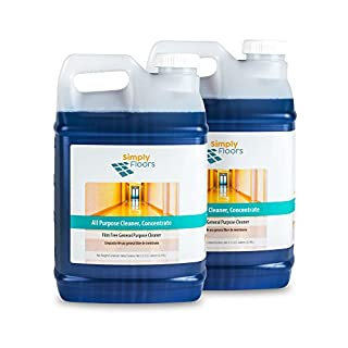 Simply Floors FLC-0034 All Purpose Floor and Multi-Surface Cleaner - [Pack of 2 - 2.5 gallon bottles] 12-13 pH, Concentrated Cleaning Solution, Ideal for Scrub and recoat, Dilution rate from 1:20 to 1:128
