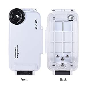 Yunchenghe 40 m Diving iProtect External waterproof case for iPhone 6 (4.7 inch) for underwater cases for underwater photos in white …