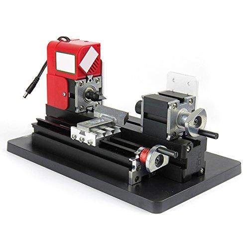 Zinnor Mini Lathe Machine saw Mini Combined Machine Tool 24W 20000rpm for Hobby Science Education Modelmaking by Zinnor