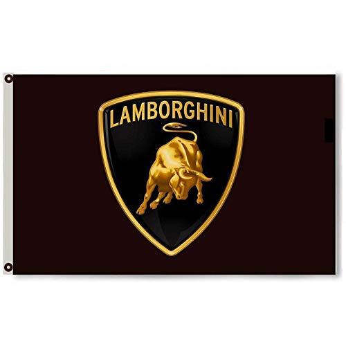 Cayyon Lamborghini Flag Banner 3x5 ft Black Banner