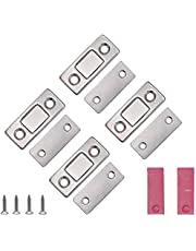 VOARGE Magneet voor kastdeur, ultradunne kastdeur, magneetsluiting, kastdeur, voor sluiting, kliksysteem, deurmagneet, deurmagneet, deur, meubelmagneten voor keukenkast, magneetslot