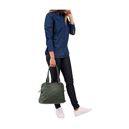 Tasche Henkeltasche BAG CARFIN Green 1645 Cowboysbag 1gELN7N