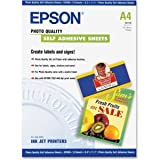 Epson Photo Quality Self-adhesive Sheets (8.3x11.7 Inches, 10 Sheets) (S041106)