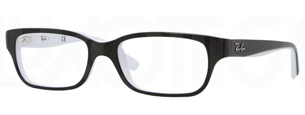 Amazon.com: Ray Ban Junior RY1527 eyeglasses-3579 Top Negro ...