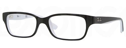 Amazon.com: Ray Ban Junior RY1527 eyeglasses-3579 Top Negro ...