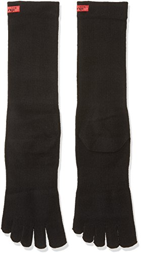 (Injinji 2.0 Men's Sport Crew Toesocks, Black, Large)