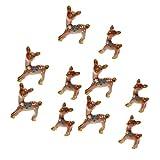 Flameer Miniature Garden Decor – 10 pcs Cute Deer Figurines Miniatures Fairy Garden Crafts Decoration Accessories For Sale