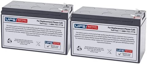 12V 7.2Ah F2 Sealed Lead Acid Replacement Battery Set for Tripp Lite RBC5A by UPSBatteryCenter Set of 2