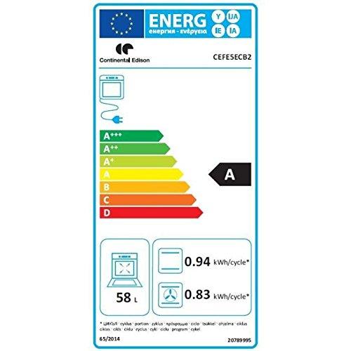 Continental Edison - CEFE5ECB2 Horno: Amazon.es: Grandes electrodomésticos