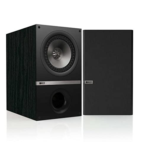 KEF Q300B Bookshelf Loudspeakers - Black Ash (Pair) (Subwoofer And Center Speaker)