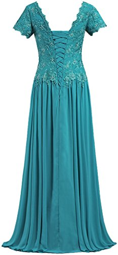 ANTS Women's V Neck Short Sleeve Mother of The Bride Dresses Long Gowns Size 26W US Jade