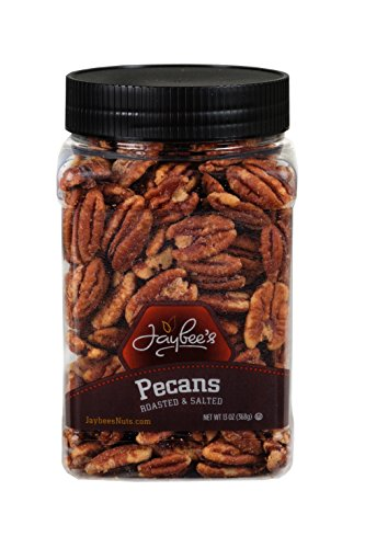 Jaybee's Whole Roasted Salted Pecans - Great for Gift Giving or As Everyday Snack - Reusable Container - Certified Kosher (13 ()
