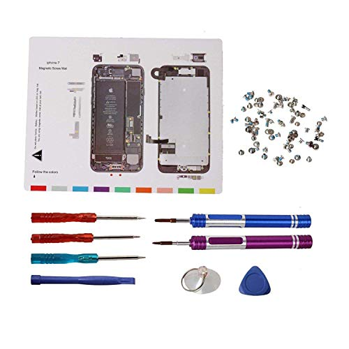 Triwing Screwdriver for iPhone 7 Repair Tools,Timorn Magnetic Screw Mat Full Screw Set Pentalobe Screw Screwdriver Plastic Prying Openers Triangle Pry Tools, Vacuum Suction Cup for iPhone - Screen Iphone Replacement 3g