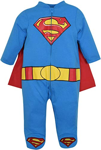 Warner Bros. Batman & Superman Baby Boys' Costume Coveralls with Cape -