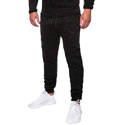 OHQ Pantalones Negro Work Hombre Casual Vaqueros Gris Monos Caqui Speckle Azul Sport Pantalones Pocket Pocket Casual Negro rwrxHSqncW