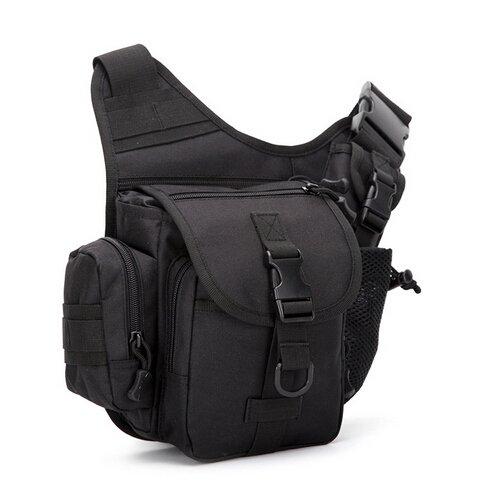 Mefly Los Militares Del Pecho Pack Bolsa De Nylon Negro Hombres Pequeños Multifuncional black