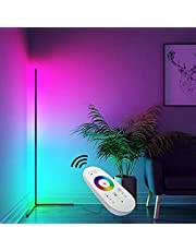 TBOYUAN RGB Floor Lamp, Corner Floor Lamp with Remote Control, RGB Colour Changing Atmosphere Standing lamp, Aluminum Alloy Minimalist Floor Lamp, Light for Living Room