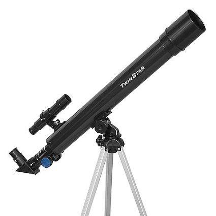 Black TwinStar AstroMark 50mm 75x Power Refractor Telescope TwinStar