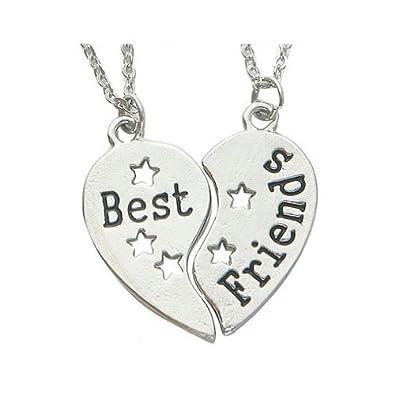 Best friends pendant necklaces two halves of a heart best friend best friends pendant necklaces two halves of a heart best friend necklace mozeypictures Choice Image