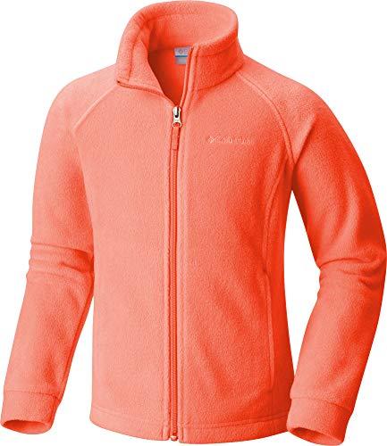 - Columbia Girls' Benton Springs Fleece Jacket (X-Small, Punch Pink(XG6002-802)/Grey)