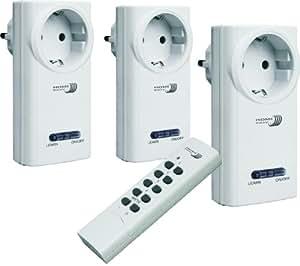 Home Easy HE808S - Conjunto de interruptores con mando a distancia