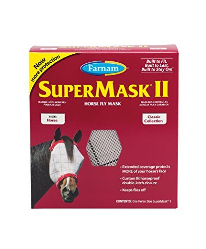 Farnam SuperMask II Horse Fly Mask for Horses, Colors May - Antics Animal Sheet