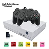ANBERNIC Retro Game Console, Entertainment System HD Video Game Console 32GB 843 Classic Games 4K HDMI TV Output with 2PCS Joystick for a Great Gifi for Game Player (White)