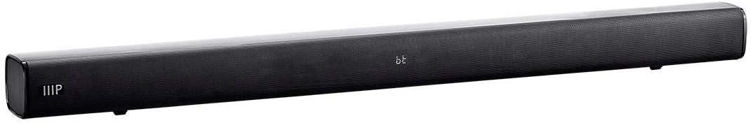 Monoprice SB-100 2.1-ch Soundbar - Black - 36 Inches with Built in Subwoofer, Bluetooth, Optical Input, and Remote Control