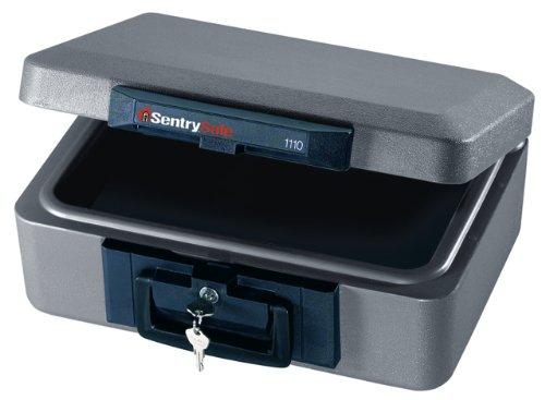 UPC 049074000509, SentrySafe 1110 1/2 Hour Fireproof Security Chest, 0.18 Cubic Feet, Medium Gray