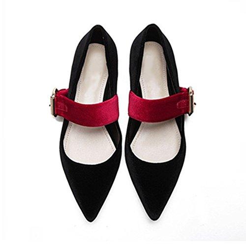 Womens Retro Pleuche Mary Jane Shoes Flatform Sneakers Black Le15k