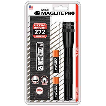Maglite Mini PRO LED 2-Cell AA Flashlight with Holster Black - SP2P01H. Premium Pack