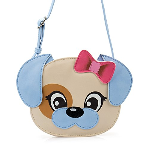 f3172ec431a7 Ava   Kings Little Girl PU Faux Leather Purse Cute Animal Face Designs Messenger  Crossbody or