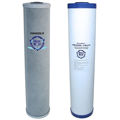 Lead / Chlorine Removal Filtration System, KleenWater Dual Filter Cartridge Replacement Set for PWF4520LRDS