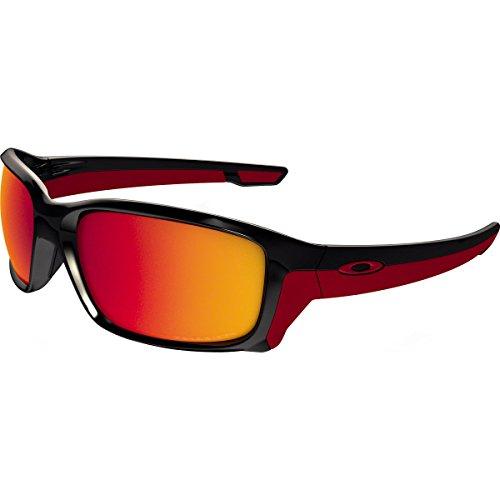 Oakley Men's Straightlink Polarized Iridium Rectangular Sunglasses, Polished Black, 58 - Sunglasses Zero Oakley