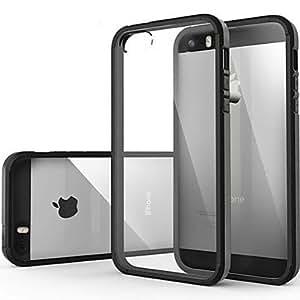 JJE Ultra Transparent Back Cover Case for iPhone 5/5S (Assorted Colors) , Golden