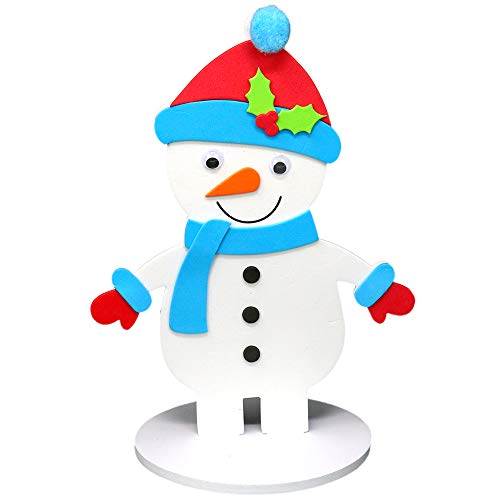 - Big Mo's Toys Holiday Crafts - Christmas Foam Arts N Craft Snowman Table Top Decorations Kit for Kids