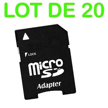 Lote de 20 Adaptador de Tarjeta de Memoria microSD a SD SDHC ...