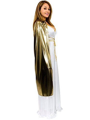 Adult Gold Lame Cape 44