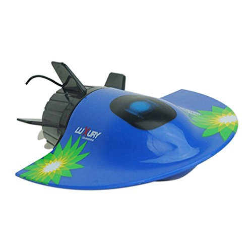 Emorefun Joe 5 Channel Radio RC Submarine Racing Remote Control Ship Toy Waterproof RC Boat Model Electric Toys Gift for Kids, Blue
