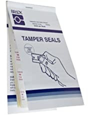 "Brady TL-PK-2 0.8"" Diameter, B-351 Tamper Resistant Vinyl, Red on White Circle Seals, Legend""Calibration Void If Seal is Broken"" (Pack of 300)"