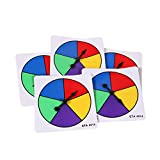 ETA hand2mind Five Color Spinners, Plastic (Pack of 5)