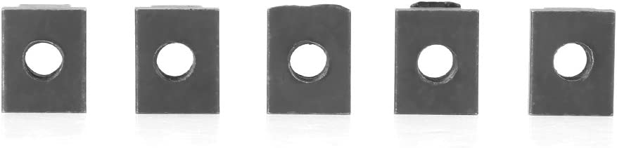 T Slot Nuts M10 5 pcs Black Oxide Finish T Slot Nuts M8//10 Threads Fit Into T-Slots In Machine Tool Tables