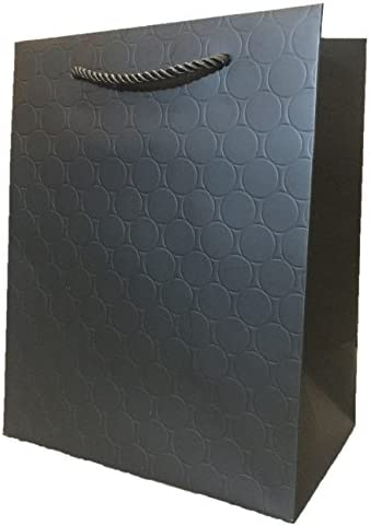 Black And Gold Gift Bags With Handles Paper 8 X 10 5 Medium Modern Fancy Heavy