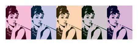 Audrey Hepburn Cigarello Series Pop Art Poster 13 x 37.5 inches