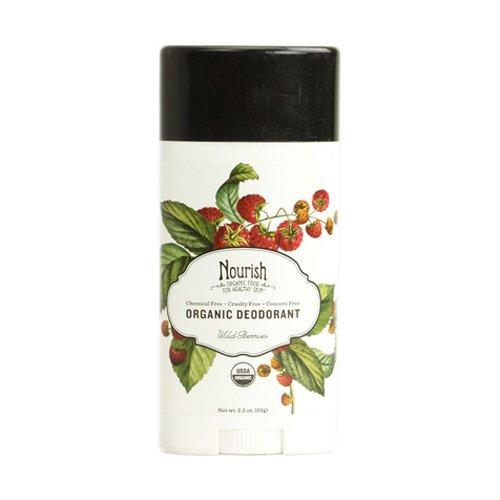 Nourish Organic Stick Deodorant, Wild Berries, 2.2 Ounce (2.2 Ounce Deodorant Stick)