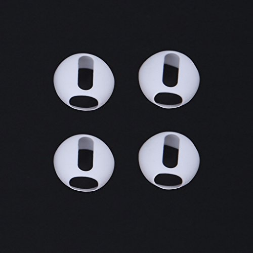 Aixia 2 Pairs Ultrathin Silicone Earbuds Eartips Cover Upgraded for Airpods Earphones (White)